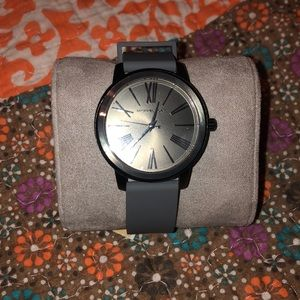 Gray Michael Kors Watch with Dark Silver Face
